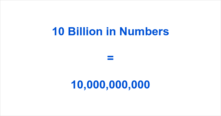 10 Billion In Figures
