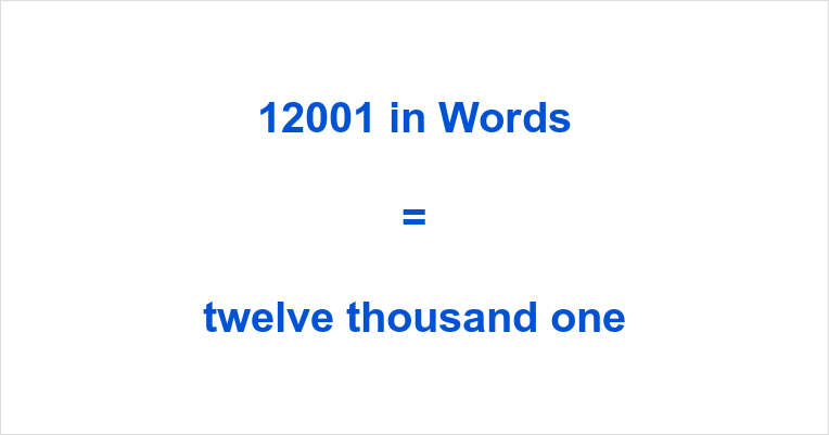 12001 in Words