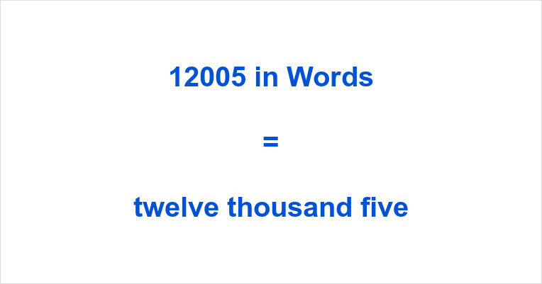 12005 in Words