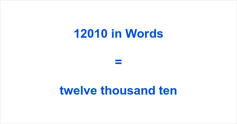 12010 in Words