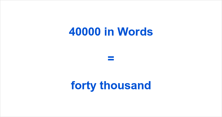 40000 in Words