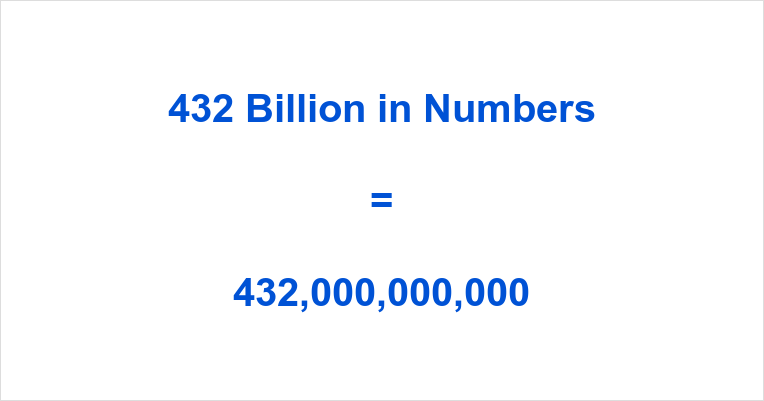 432 Billion in Numbers