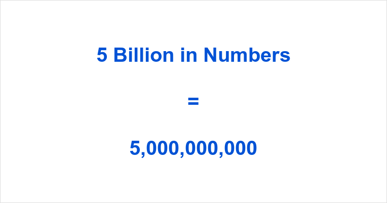 5 Billion In Figures
