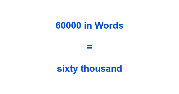 60000 in Words