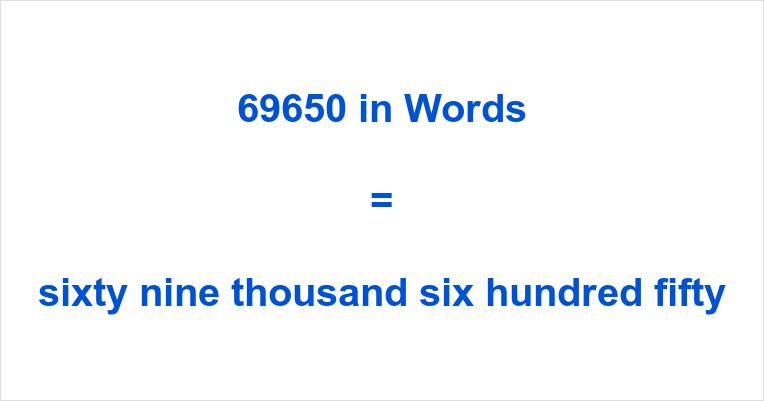 69650 in Words