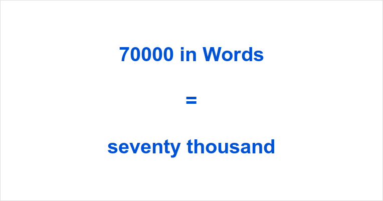 70000 in Words